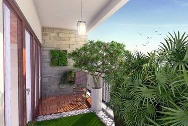Verdant Balcony Garden