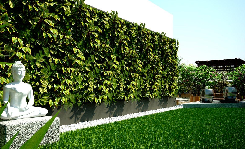 Zen Garden With Evergreen Foliage Terrace Garden